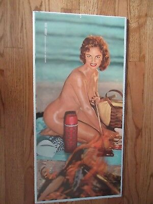 Playboy Centerfold Vintage Playmate Of The Month Miss August  Picnic Time