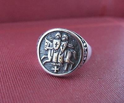 Solid silver Knight Templar ring - 2302
