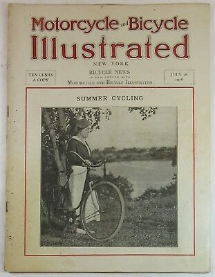 July 18, 1918 Motorcycle and Bicycle Illustrated Magazine