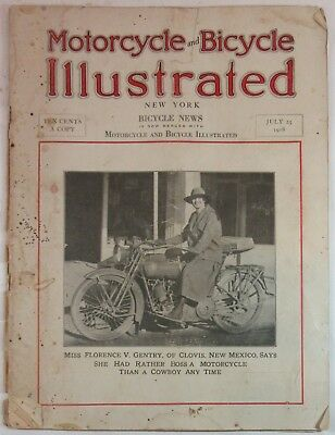 July 25, 1918 Motorcycle and Bicycle Illustrated Magazine