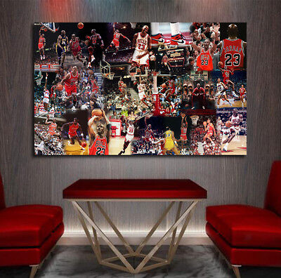 092703f2a1e Michael Jordan 1 of a kind Art Collage G.O.A.T Air Jordan Chicago Bulls  Print