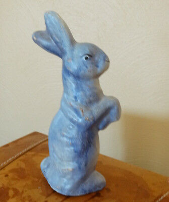 Vintage Purple Rabbit Standing On Hind Legs Candy Container Sh