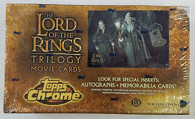 Topps LOTR Lord of the Rings Trilogy Chrome Factory Sealed Hobby Box