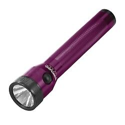 Purple Stinger Rechargeable Flashlight with AC/DC and 2 Holders