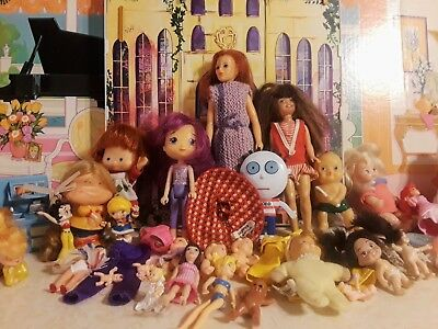 Lot 35 PLUS Dolls Vintage Strawberry Shortcake SKIPPER Rainbow Brite Betty Boop