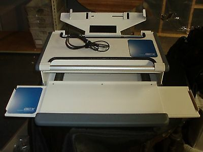 GCX Medical Hospital Lab Computer Workstation Mountable Pull out Keyboard Mouse