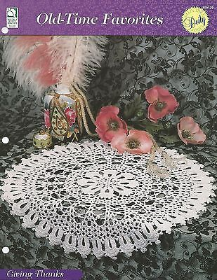 Giving Thanks Doily Old Time Favorites Crochet Pattern 325