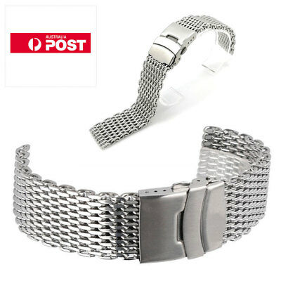 20/22/24mm Stainless Steel Dive Shark Mesh Milanese Watch Bracelet Strap Band AU