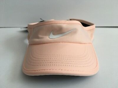 091fd758bfe Nike Women s Aerobill Featherlight Dri Fit Visor Pink One Size NEW! 899656  814