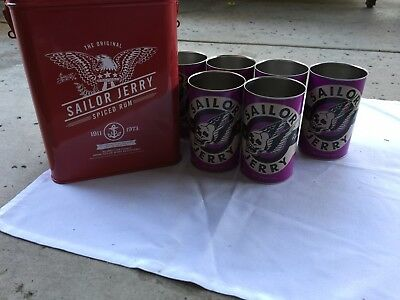 New Sailor Jerry Gas Can With 6 Oil Can Cups.  Decanter Rare Collector Piece