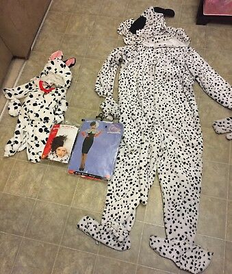 Family Halloween Costumes Set 101 Dalmatians Adult & Baby & Cruella De Vil Adult