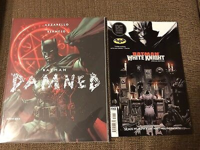 Batman Damned #1 Black Label Jim Lee Variant And White Knight Special Edition