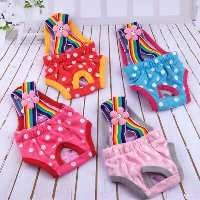 US Pet Female Dog Strap Physiological Pants Puppy Dog Suspender Sanitary Diaper