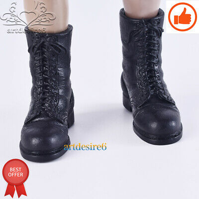 1/6 Soldier Brown boots Shoes Model Hollow Bulk item Fit 12''Phicen Body Figure