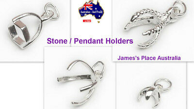 Stone / Pendant Holders - Glue On - 925 - Sterling Silver