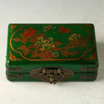 Exquisite Hardwood Handmade Flower & Butterfly Jewelry Box CC1023