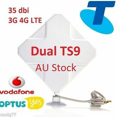 35dBi 3G 4G LTE ANTENNA for TELSTRA NETGEAR NIGHTHAWK M1 MOBILE HOTSPOT-2xTS9