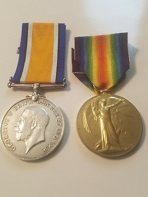 Died At Sea ,war And Victory Medal Pair ,royal Navy,hms Barham