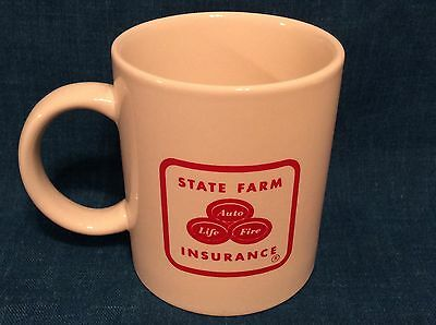 STATE FARM INSURANCE Coffee Cup ADVERTISING LOGO/ MAIN STREET SCENE, DBLE SIDED