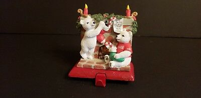 Coca Cola Stocking Holder Collection Polar Bears Hanging Stockings 1997