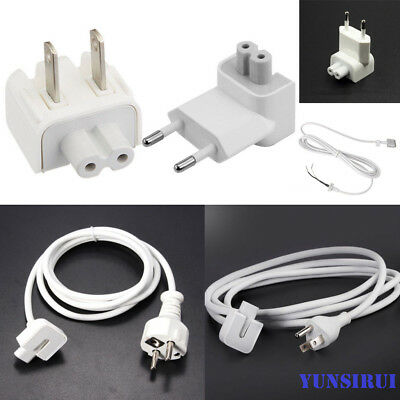 EU/US Power Charger Head Extension Cable Cord Adapter for Apple MacBook Pro Air