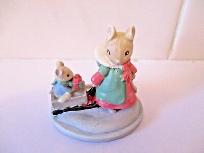Vintage Avon Forest Friends Sleigh Ride Figurine