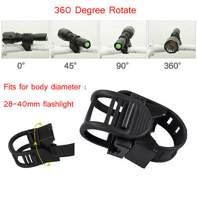 360 Degree Cycling Bike Bicycle Mount Holder for Flashlight LED Torch Clip Clamp