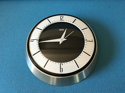 Retro Vintage Large 24cm 1960's SMITHS Electric Wall Clock