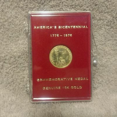 10k Gold Coin / Medal  America's Bicentennial Commemorative 1776 -1976