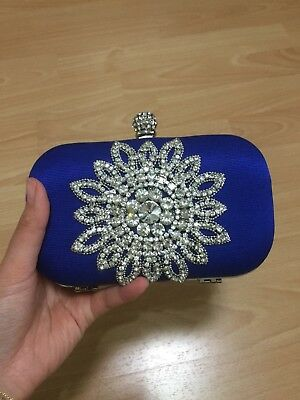 Forever New Royal Electric Blue Clutch Bag Purse Crystal ** BUY 3 GET 1 FREE**