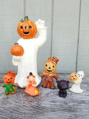 Large Lot Vintage Halloween Gurley Candles Rare Ghost Scarecrow Witch Cat