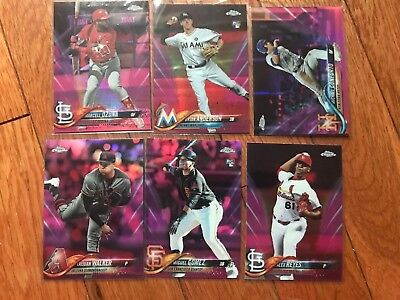 lot of 20 2018 Topps Chrome Refractor Lot  w/ Pink   X fractors  SEPIA  Rookies