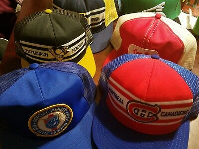 Vintage SnapBack Trucker Hats Lot of 10 Farmer Mesh MLB NHL Old Style Norte Dame