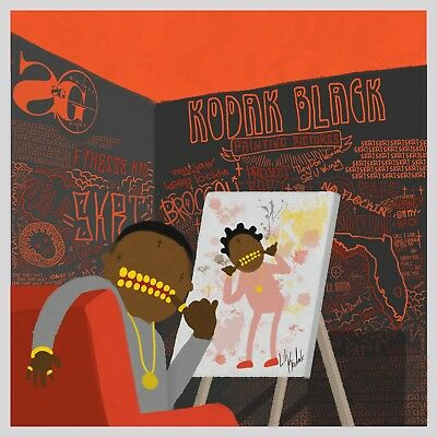 Kodak Black Painting Pictures poster wall art home decor photo print 24x24 inch