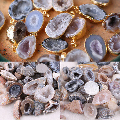 Natural Agate Cabochon Slice Fancy Raw Stones Slice Pendant Loose Gemstone AAA+