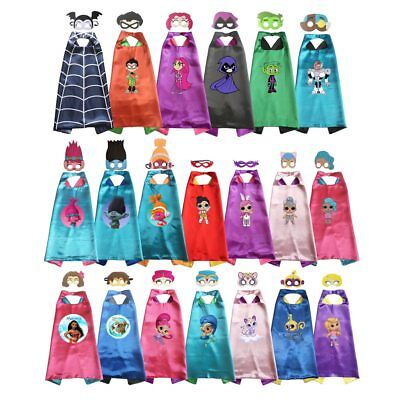 Superhero Capes with masks Kids Girls Cosplay Vampire Costume Halloween Birthday