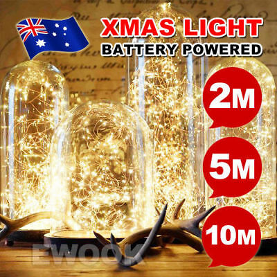 20/50/100 LED Battery Operated Mini LED Copper Wire String Fairy Lights 10M Top