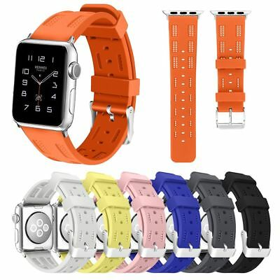 Silicone Replacement Bracelet Strap Band For iWatch Apple Watch Series 4 40/44mm