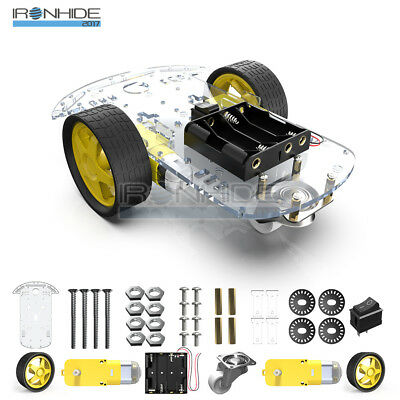 2WD Smart Robot Car Chassis Kit Arduino 2 motor 1:48 Speed encoder Battery Box