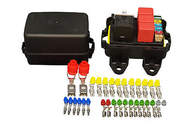 MTA Waterproof sealed Fuse and Relay holder box Panel