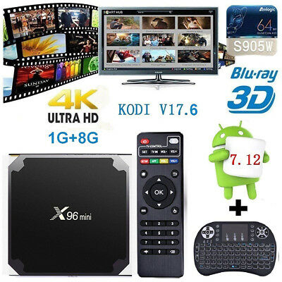 X96mini Smart Android 7.1.2 TV Box S905W Quad Core H.265 2GB / 16GB WiFi Media~~