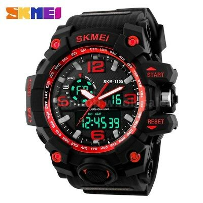 Mens Fashion Army Waterproof Boys Sport LED Quartz Analog Digital Wrist Watch UK