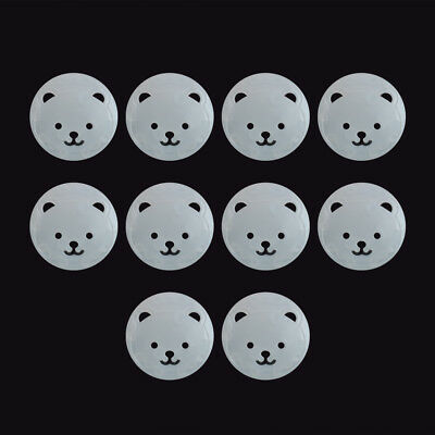 10pcs Power Kid Socket Cover Baby Child Protector Guard Mains Point Plug Bear XJ