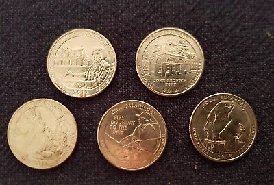 USA State Quarters - 5 Coins - United States State Coin !!