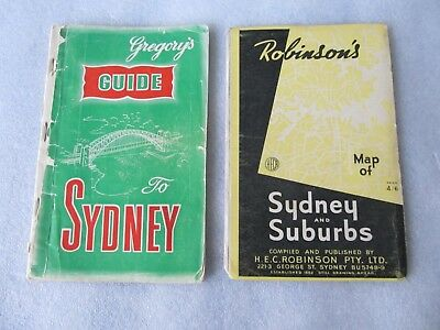 Vintage Robinson's Map of Sydney (9th Edition), Gregory's Guide to Sydney (15th)