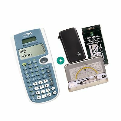 Texas Instruments TI-30XS MultiView + Schutztasche + Geometrie-Set