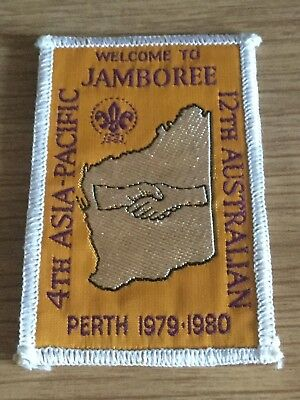 Boy Scouts Sew-on Badge 4th Asia-Pacific 12th Australian Jamboree Perth 1979-80