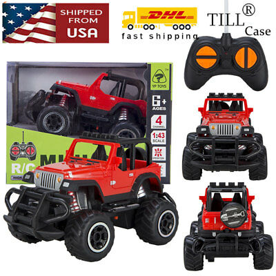 Toys for Boys Kids RC Mini Red Jeep Buggy Car w/ Remote Control Cars Xmas Gift