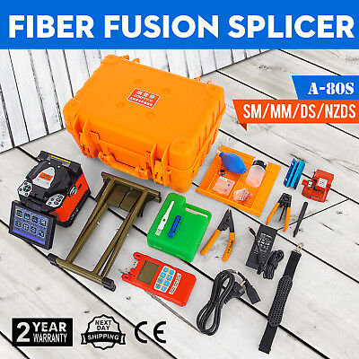 A-80S Precision Fiber Optic Splicing Machine Optical Fiber Fusion Splicer 110V