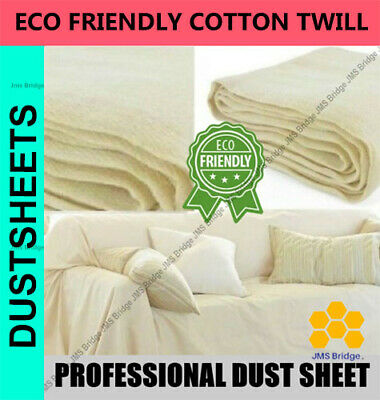 Heavy Duty 12Ft X 9Ft Cotton Twill Professional Decorating Large Dust Sheets